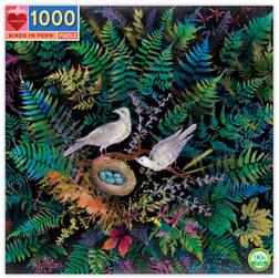 eeBoo 1000 Piece Jigsaw Puzzle: Birds And Ferns