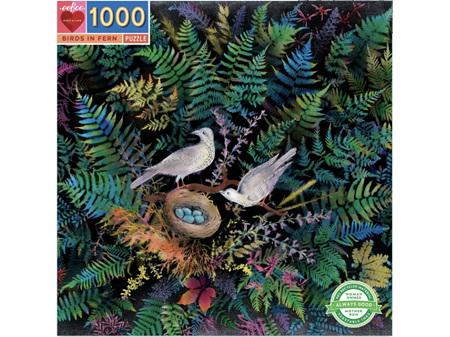 EeBoo 1000 Piece Jigsaw Puzzle Birds in Fern