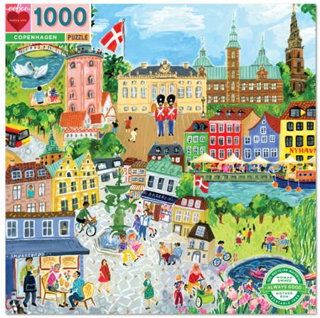 eeBoo 1000 Piece Jigsaw Puzzle: Copenhagen