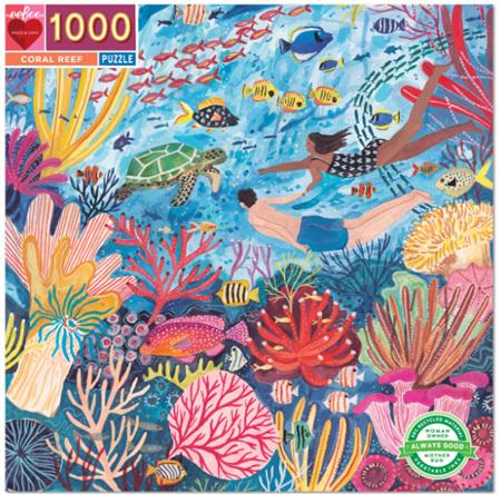 eeBoo 1000 Piece Jigsaw Puzzle: Coral Reef
