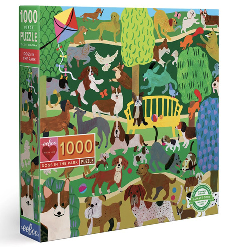 eeBoo 1000 Piece Jigsaw Puzzle: Dogs In The Park