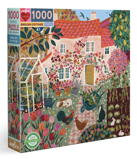 eeboo 1000 Piece Jigsaw Puzzle: English Cottage