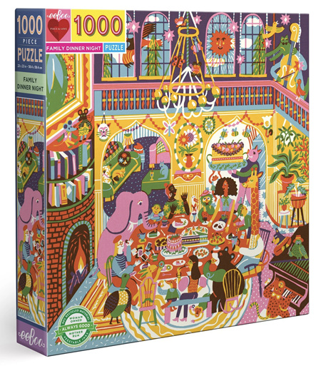 eeboo 1000 Piece Jigsaw Puzzle: Family Dinner Night