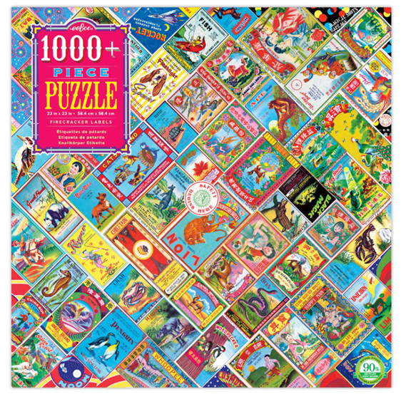 eeBoo 1000 Piece jigsaw Puzzle Firecracker Labels buy at www.puzzlesnz.co.nz