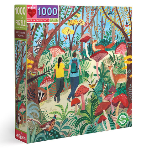 eeBoo 1000 Piece Jigsaw Puzzle: Hike In The Woods