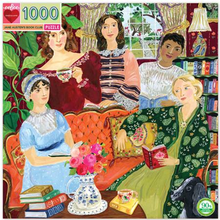 eeBoo 1000 Piece Jigsaw Puzzle: Jane Austin Book Club