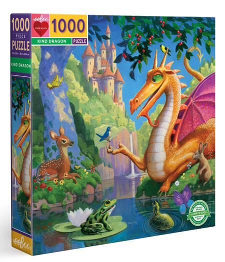 eeboo 1000 Piece Jigsaw Puzzle: Kind Dragon