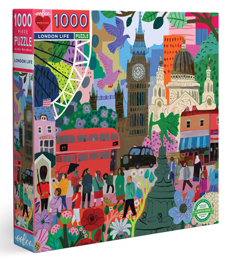 eeBoo 1000 Piece Jigsaw Puzzle: London Life