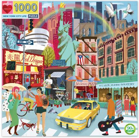 eeBoo 1000 Piece Jigsaw Puzzle: New York City Life