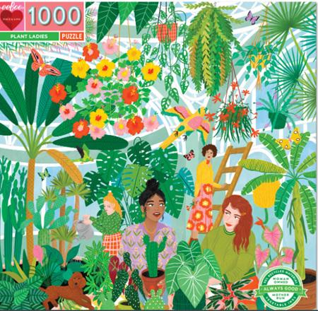 eeBoo 1000 Piece Jigsaw Puzzle: Plant Ladies