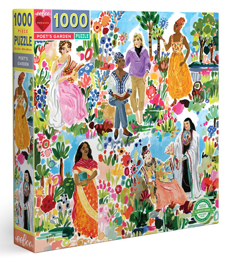 eeBoo 1000 Piece Jigsaw Puzzle: Poets Garden