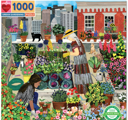 eeBoo 1000 Piece Jigsaw Puzzle: Urban Gardening