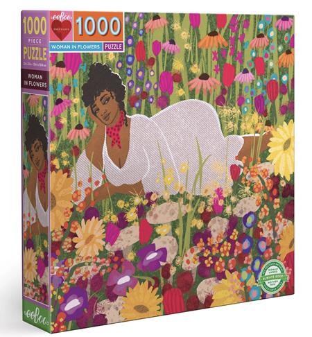 eeboo 1000 Piece Jigsaw Puzzle: Woman In Flowers