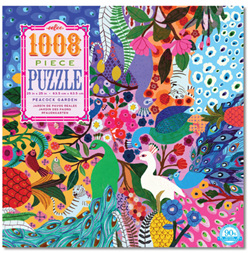 eeBoo 1008 Piece Jigsaw Puzzle: Peacock Garden
