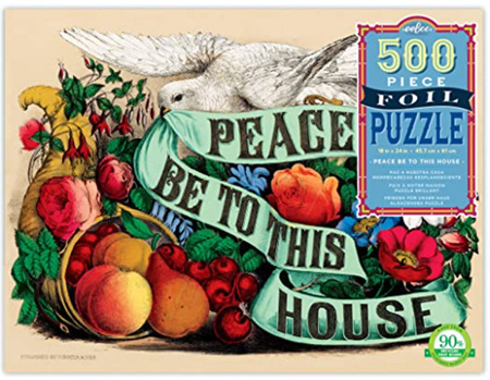 eeBoo 500 Piece Jigsaw Puzzle: Peace Be To This House