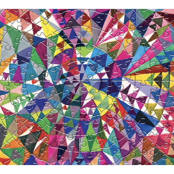 eeBoo 500 Piece  Round  Puzzle Triangle Pattern  at www.puzzlesnz.co.nz