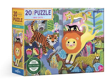 EeBoo Big Cats 20 Piece Puzzle