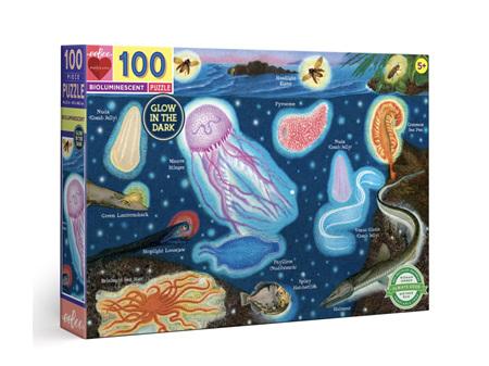 EeBoo Bioluminescent 100 Piece Puzzle