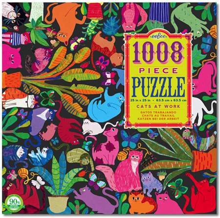 eeBoo Cats At Work 1008 Piece Family Jigsaw Puzzle