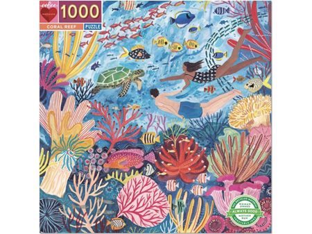Eeboo Coral Reef 1000 Piece Puzzle