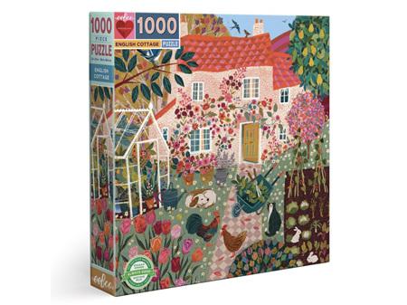 EeBoo English Cottage 1000 Piece Puzzle