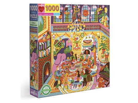 EeBoo Family Dinner Night 1000 Piece Puzzle