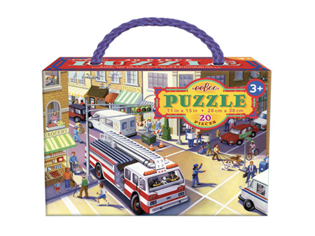 Eeboo Fire Truck 20 Piece Puzzle