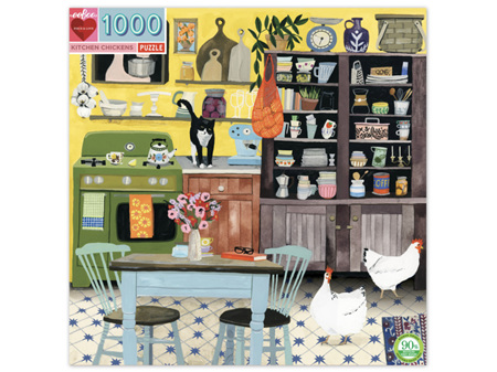 EeBoo Kitchen Chickens 1000 Piece Puzzle