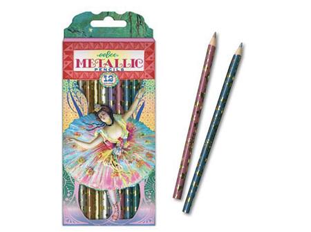EeBoo Metallic Pencils French Dancer 12 Pack