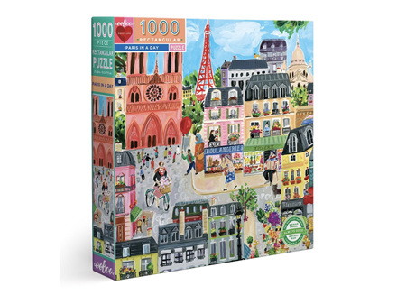 EeBoo Paris in a Day 1000 Piece Rectangle Puzzle