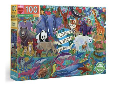 EeBoo Planet Earth 100 Piece Puzzle