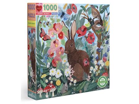 EeBoo Poppy Bunny 1000 Piece Puzzle