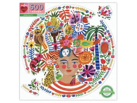 Eeboo Positivity Round 500 Piece Puzzle