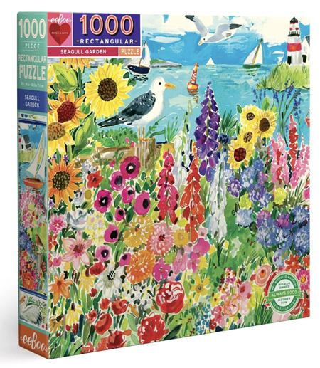 eeBoo Seagull Garden 1000 Piece  Rectangle Jigsaw Puzzle