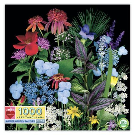 eeBoo Summer Garden Sampler 1000 Piece Rectangular Jigsaw Puzzle