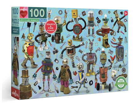 EeBoo Upcycled Robots 100 Piece Puzzle
