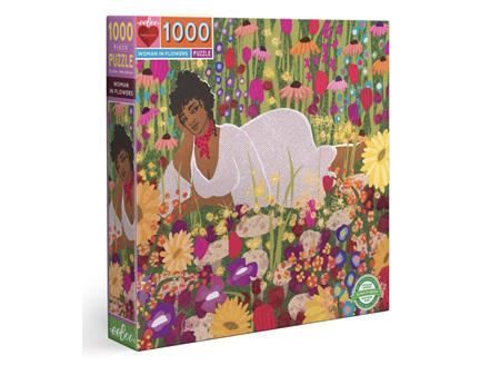 EeBoo Woman in Flowers 1000 Piece Puzzle