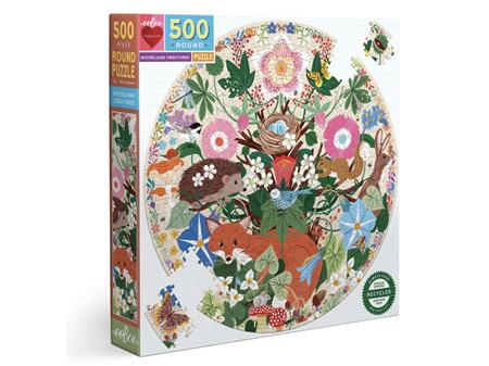 EeBoo Woodland Creatures 500 Piece Puzzle