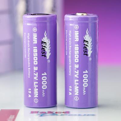 Efest Purple Series - 18500 IMR - 1000mAh