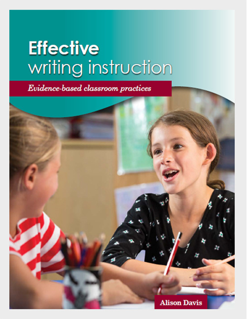 Effective Writing Instruction - Alison Davis - available from Edify