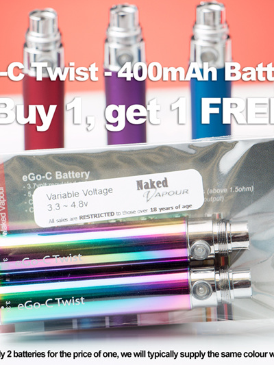 eGo-C Twist - 400mAh - Buy 1, get 1 FREE
