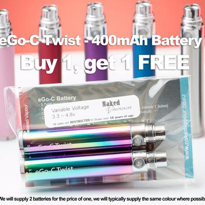 eGo-C Twist - 400mAh - Buy 1, get 1 FREE