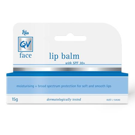 Ego QV Face Lip Balm with SPF30+ 15G