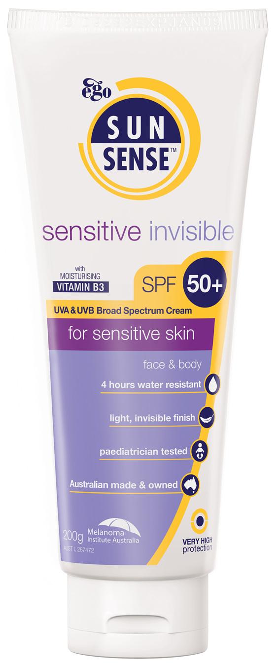 EGO Sunsense Sensitive Invisible Spf50+ 200G