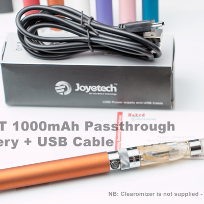 eGo-T 1000mAh Passthrough Battery + USB Cable