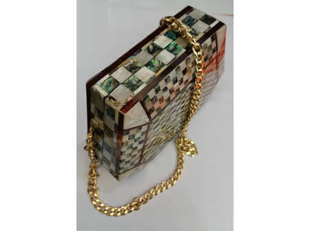 Egyptian Mother of Pearl  Handbag