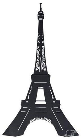 Eiffel Tower - Blackboard Wall Decal