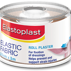 Elastoplast 45773, Elastic Fabric Roll Plaster, 2.5cm x 3m