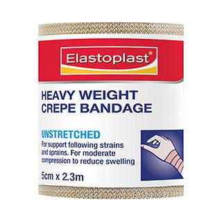 Elastoplast 46017, Heavy Crepe Bandage 5cm x 2.3m