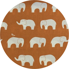 """Ele Family"", Orange, GOTS 100% Organic Cotton"